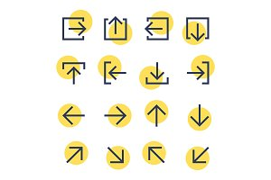 Vector arrow pictogram set