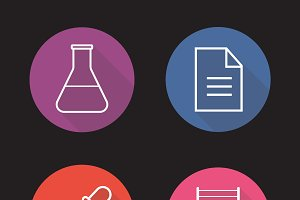 Laboratory icons. Vector