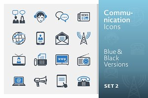 Communication Icons Set 2 | Blue