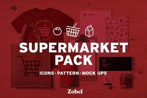 Supermarket | Icons+Pattern+Mockups