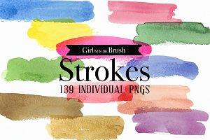 Watercolor Strokes Bundle