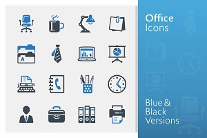 Office Icons - Blue Series