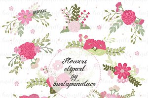Wreath flower clipart