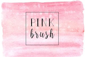 Pink brush watercolor background