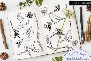 Hand Drawn Doodle Clip Art