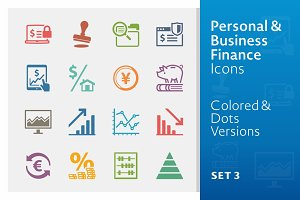 Business Finance Icons 3 | Colored