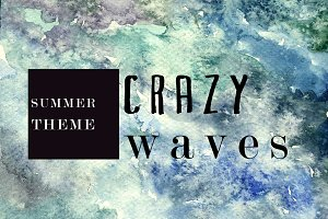 Crazy wave watercolor texture