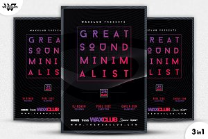 3in1 MINIMAL EVENT Flyer Template
