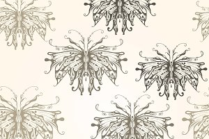 Vector Seamless Pattern with Vintage