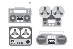 Old Tape Players