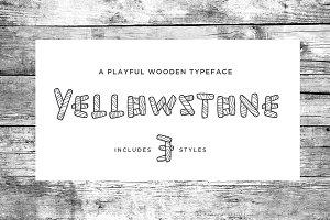 Yellowstone Wood Typeface