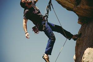 climbing rocks(vertical)