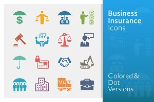 Business Insurance Icons | Colored