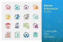 Home Insurance Icons | Colored