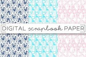 Beauty Print Digital Paper