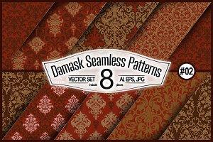 Seamless Damask Set #02