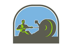 Rower Rowing Machine Half Circle