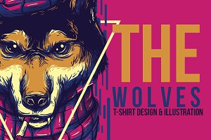 The Wolves Front Head Illustration