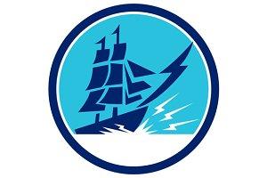 Tall Sailing Ship Lightning Bolt