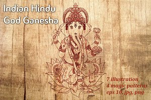 Indian Hindu God Ganesha