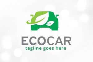Eco Car Technology Logo Template