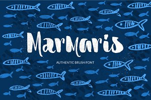 Marmaris brush font + extras