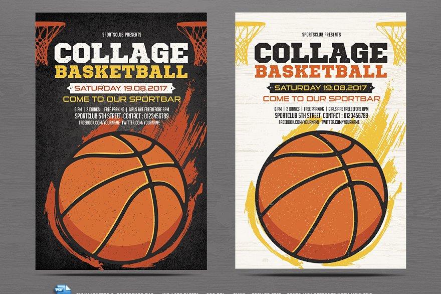 Basketball Flyer Template Flyer Templates Creative Market Pro
