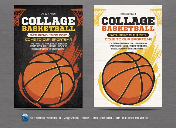 Basketball Flyer Template Flyer Templates on Creative Market – Template for a Flyer