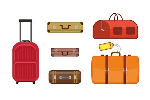 Vector illustration travel bags