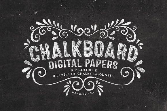 chalkboard digital paper textures textures creative market