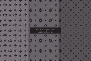 Simple stylish seamless patterns