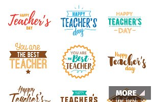 Happy teachers day typography