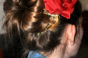 hairstyle for flamenco dance