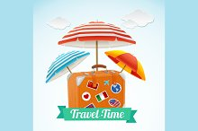 Travel Concept Banner Card. Vector