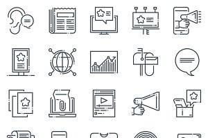 Business icon set - Natural line