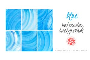 Abstract Blue Watercolor Backgrounds