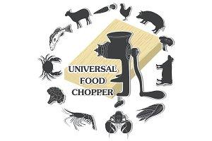 Universal food chopper