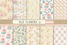 OLD FLOWERS digital papers