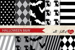 -60% Halloween Paper Kit Black White