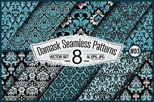Seamless Damask Set #03