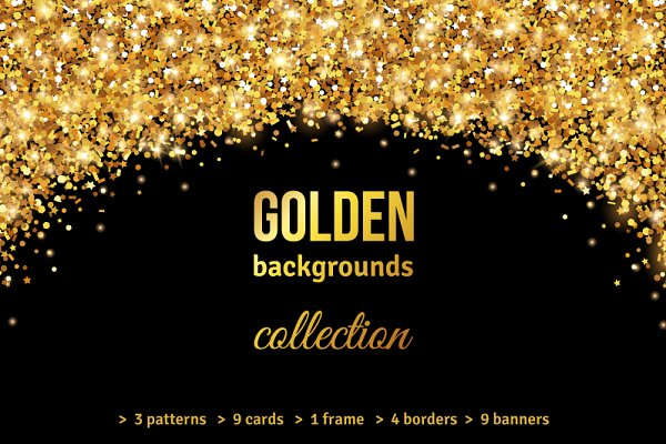 Gold Backgrounds Collection