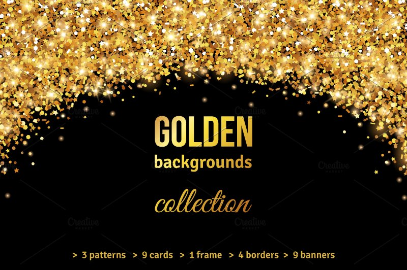 gold backgrounds collection illustrations creative market