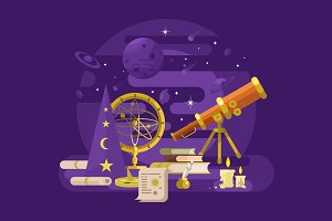 Astronomy retro design