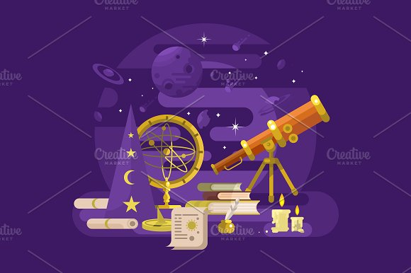 Astronomy Retro Design