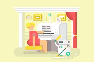 Housework robot assistant