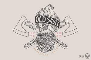 Skull Label - Old Skull