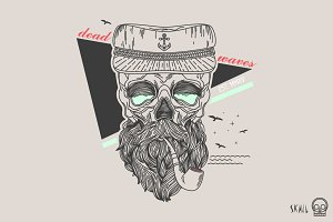 Skull Label - Skull Sailor