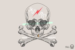 Skull Label - Skull and Bones