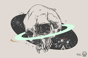 Skull Label - Dead Space