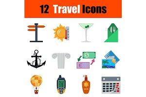 12  Travel flat design icons